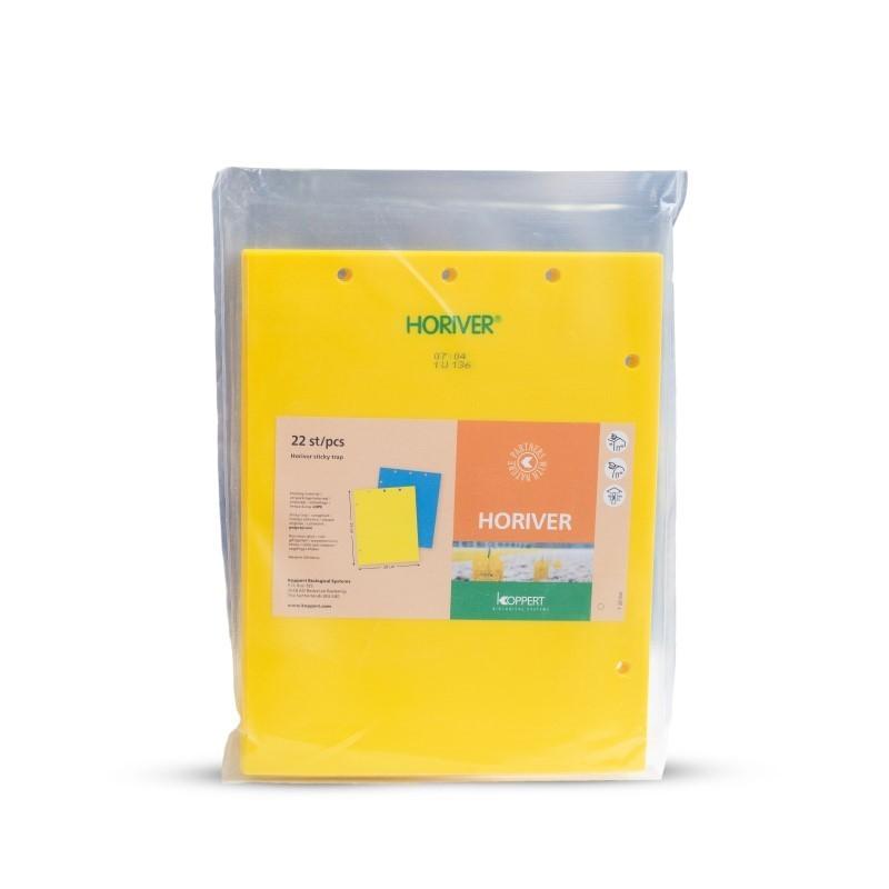 Blister de panneaux jaunes de taille médium