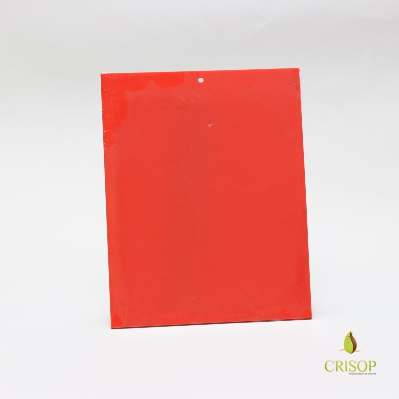 Panneaux rouges englués